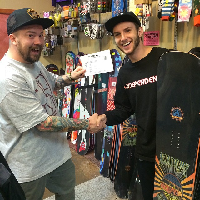 Another satisfied customer!! When you buy any Academy board at any Nor Cal retailer, you get a #FREE ticket to @borealmtn good any day!! @justywest @gzboardshop is making sure you got the right Academy board under foot!! #rhythm #goodpeople...