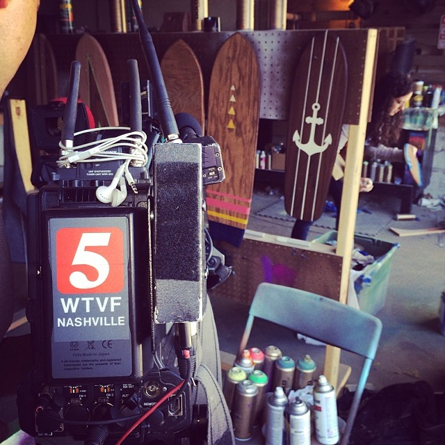 Channel 5 News came by the STBCo. shop to shoot a story on us this am.