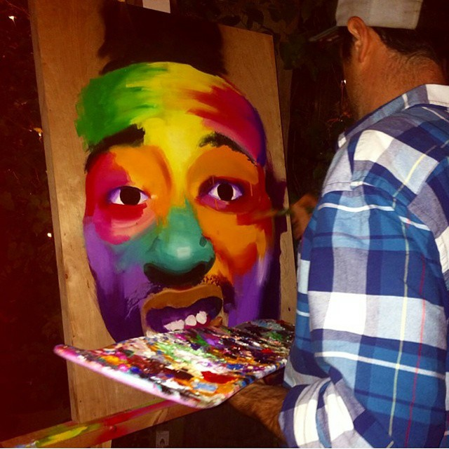 Live painting of #ODB from this weekend! #wutang #oldirtybastard #portrait #boombotix