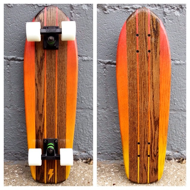 The sunburst fade on this cruiser is a crowd favorite.
