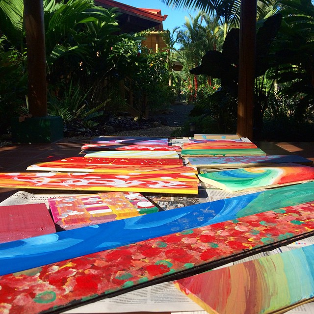 A little painting to add some color to the Bodhi Surf Lodge