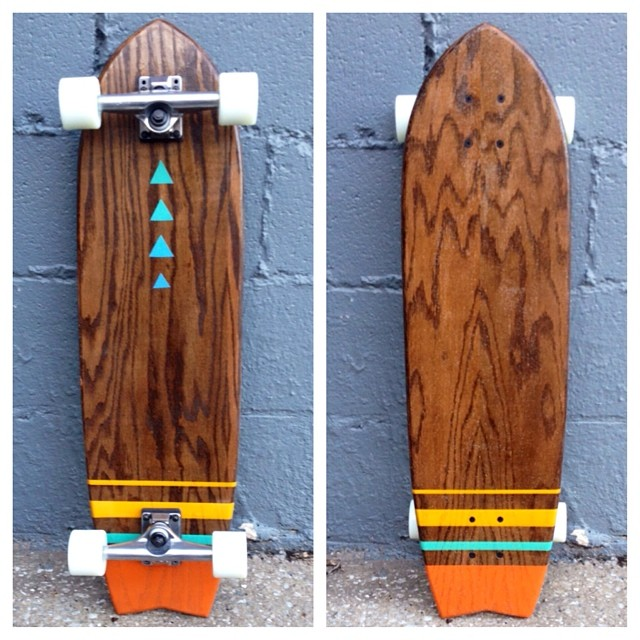 Lots of beautiful longboards like this are available for the Christmas season!