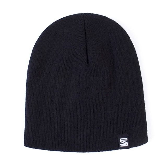 STBCo Back to Basics beanie in black.