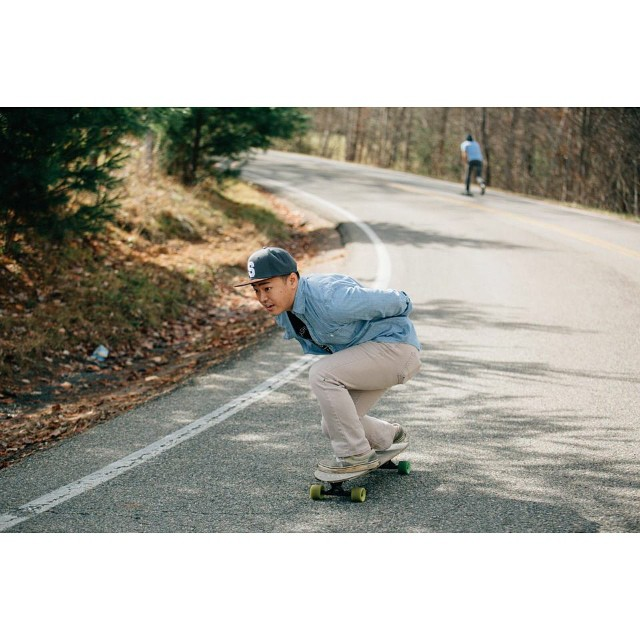 @alexmc91 charging on a hybrid. Photo cred: @danielchaney #salemtownboardco #skateboard #skatetheedges