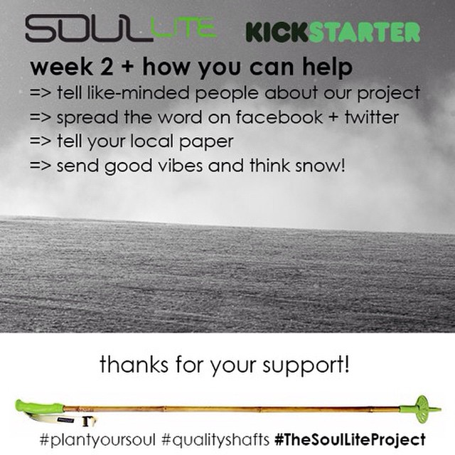 Join us in building a more sustainable outdoor industry by supporting the #SoulLiteProject @Kickstarter // #skipoles + #hikingpoles -> link in bio