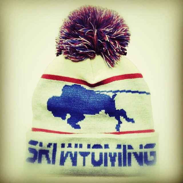 "GOING RETRO with our newest #SKIWYOMING #beanie, now available in vanilla cream! #yum #jacksonhole #jhdreaming 10% OFF with code ""giverinsta10"" and free local delivery!"