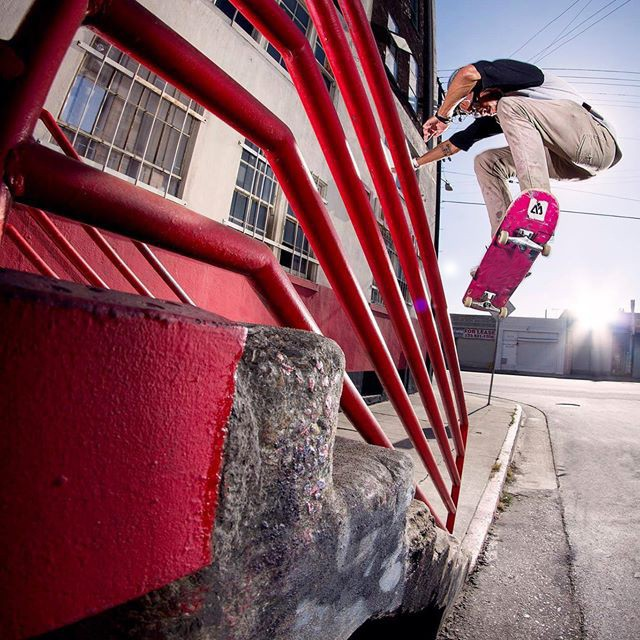 Spencer Semien aka @showmeyourtitties #nollie #bigspin over the rail