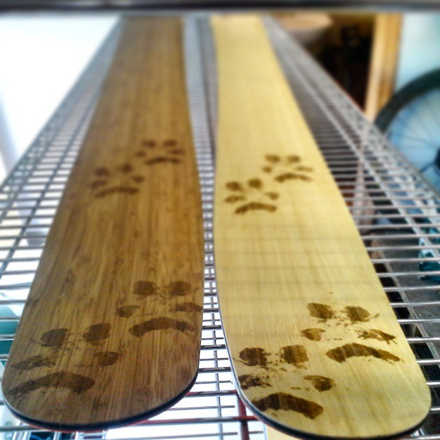 #chocolate or #vanilla?  Delicious either way. #laser  #engraved #bamboo #veneer #pawprints #orangehot