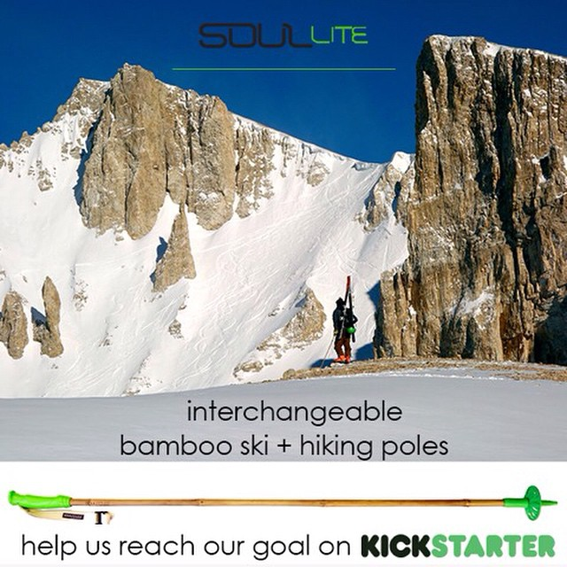 "We are sick of hearing stories from fogies who ""used to"" ski with bamboo #SkiPoles.  PLEDGE to tell your children the story about how you brought back the bamboo ski pole from a forgone era duped by the mentality of single-use, disposable 