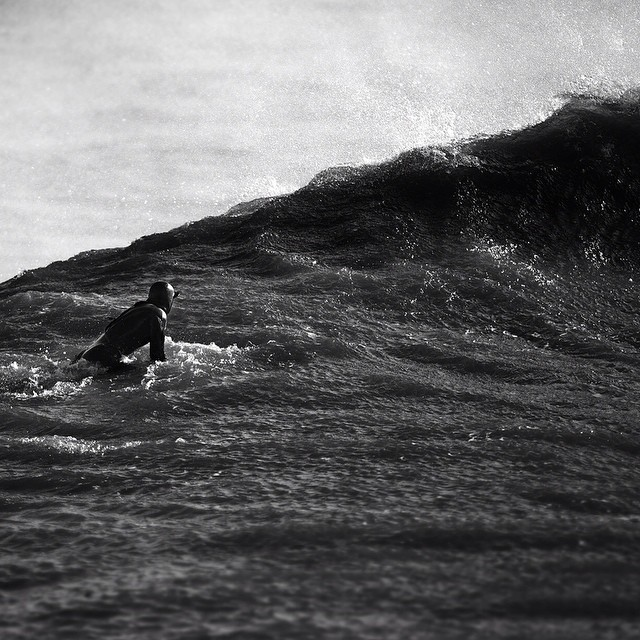 Black water #tbt to last winter #coldwatersurf #winter #cold