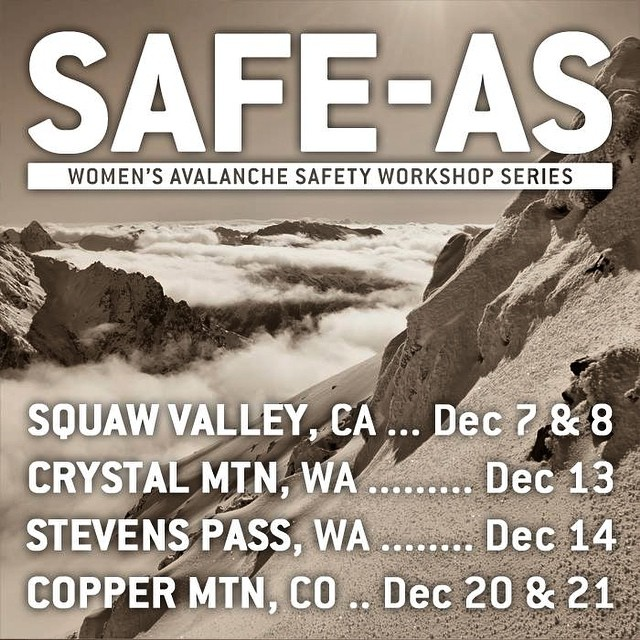 Winter is here and that means it's time to brush up on your avalanche skills! @elysesaugstad @myshellparker @leltone @jackiepaaso @ingridbackstrom are teaming up again for @safeasclinics. Check the dates for a location near you and check out the SAFE...