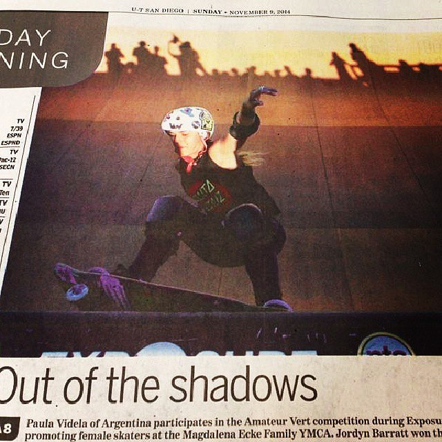 @mecuskate came all the way from #Argentina for #EXPOSURE2014. She placed 2nd in 15 and Over Amateur Vert and got this rad shot in the @utsandiego!