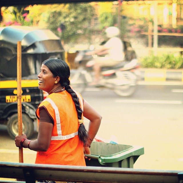 Every morning in Mumbai, India, people wake up before the sun rises to sweep and clean the streets throughout the city. It's because of them that streets are clean for everyone to start their day on and hopefully encourages more people to think twice...