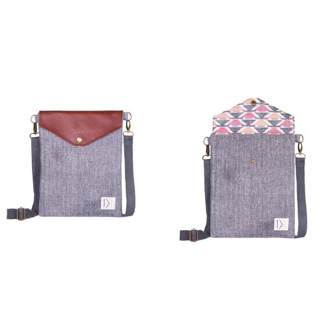 Win this product! Use it as an iPad sleeve or a bag. Made from organic chambray canvas and handwoven dhaka from rural Nepal. Enter http://bit.ly/1sGCZ0P into your browser or visit our Facebook page for more info. #estwst #giveaway #brandlaunch...