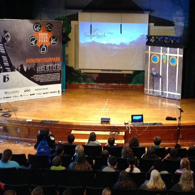 #knowyourpark showing at People's Academy Middle School | Tomorrow night come to the bigKICKER to see it, @sugarbush_vt