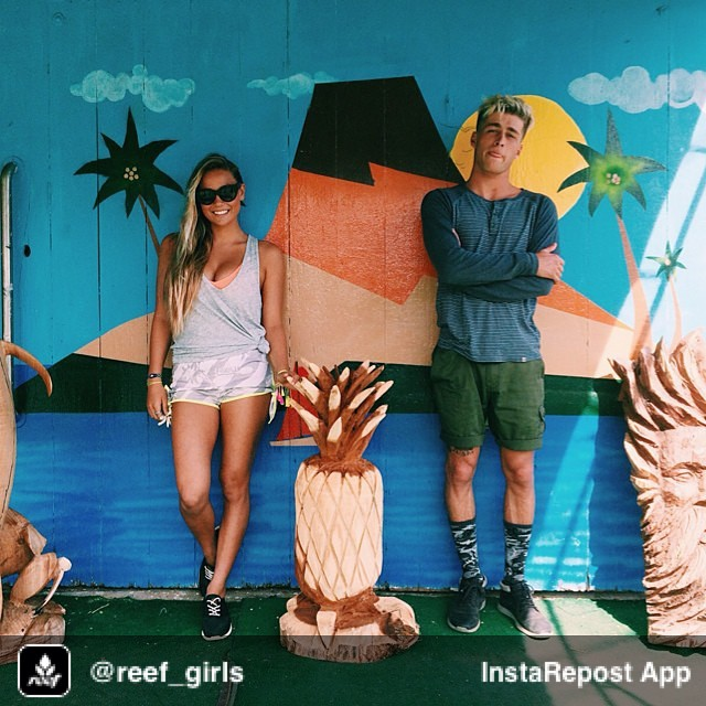 Repost from @reef_girls via @igrepost_app, it's free! Use the @igrepost_app to save, repost Instagram pics and videos, Roadside pit stop to check out some hand-carved tikis & yummy sandwiches with @tiablanco & @lukedavisthegrey