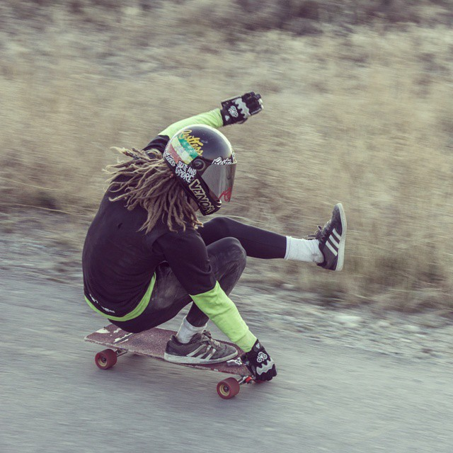 Team rider @dh_clbc on the #restlessconcorde . Steezy and trashy as usual! #restlessboards