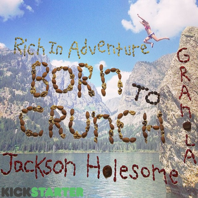 Want a taste...of the realest, raddest, crunchiest granola around?! Pledge to @borntocrunch on #kickstarter and support @carolinefrieda! Our most Jackson Holesome Give'r athlete. Click link in our profile for a peak! #granola #kickstarter #sogood!