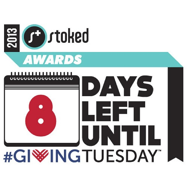 The holidays are approaching! We're celebrating next week at the #stokedawards! The clock is winding down. Please remember to pledge to #DonateDec3 come join us on our biggest night of the year #givingtuesday  #stokedneverstops #actionempowers #stokedorg