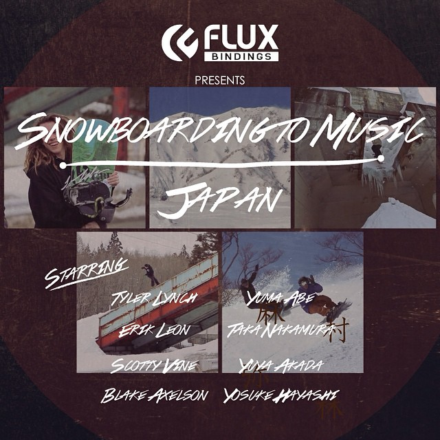 WAKE UP! Saturday morning to the Japan episode of Flux Binding's video series, Snowboarding to Music only on the @snowboardermag website snowboarder.com featuring @sababa_life @scottyvine @yumaabe @erikleon_ @krocadil @yuyaakada @yo_suki and Taka...