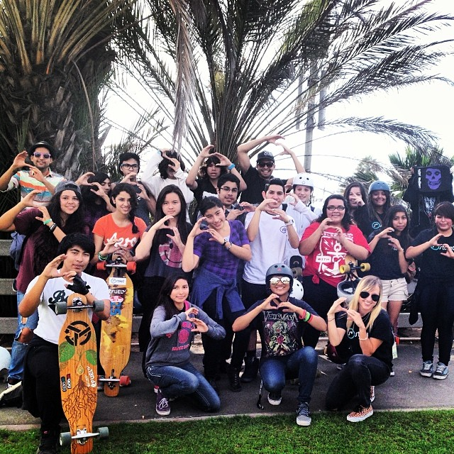 Stoked LA Skate Mentor 2 was awesome. Today we took 21 youth skateboarding,14 of which are beginners. We practiced peer mentoring and talked about how a positive attitude can bring #strength, #energy, and #initiative. @loadedboards  #stoked...