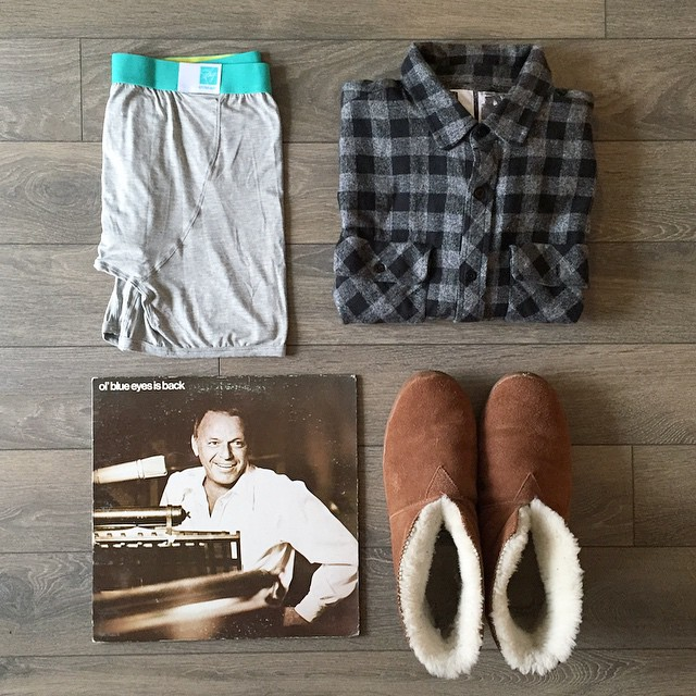 Lazy Sunday Essentials  #mypakage #franksinatra #guystuff #essentials
