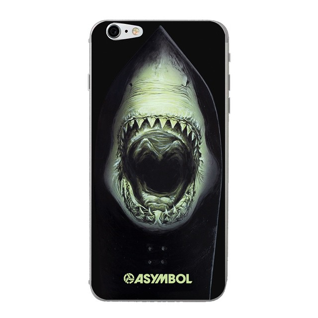 Every week is Pow Shark Week if you're brave enough. New iPhone skins are in at Asymbol.co. Turn your phone into a predator. Designed by @patmoore #neondazewinterwaves #skinit