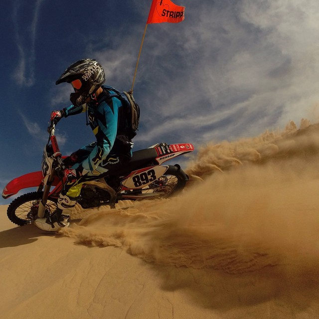 Photo of the Day! @nickmsaydat tearing up the sand dunes in Imperial Valley, California.