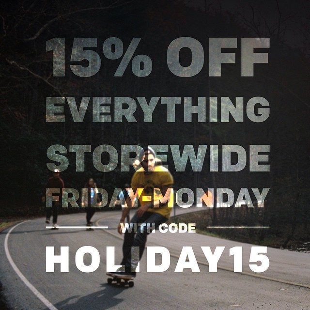 We are getting ready for the holidays here at Salemtown Board Co. All boards, apparel, and other goods will by 15% off from Friday to Monday. Get all your shopping done in one play this Christmas season. #handmade #skateboards #nashville #skatetheedges...