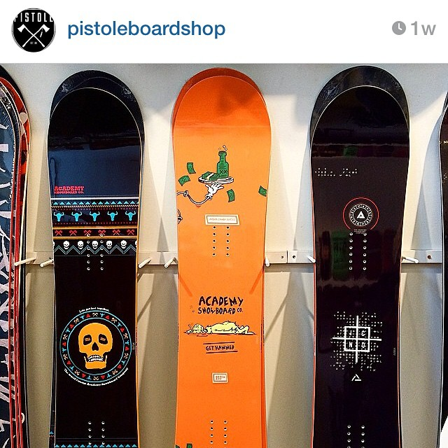 If you're in the North West area, stop into @pistoleboardshop in Spokane, WA and check out the 14/15 Academy line!! Tell them you wanna get hammed!! #propacamba #goodpeople #greatsnowboards #shoplocal #supportlocal #teamseries #northwest #academykidsrule