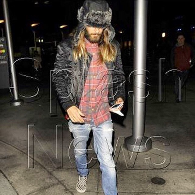 Having a major #mancrushmonday moment with @JaredLeto in our Slim Fit Flannel.