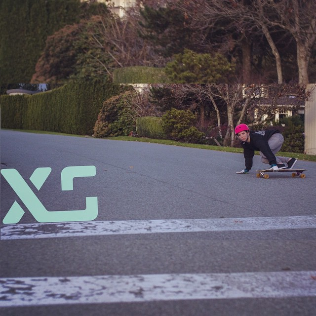 @mikefitter from @predatorhelmets was out shooting @xshelmets rider @cocomarii during her stay in Vancouver this past weekend. #xshelmets #marisanunez #getsideways #predrift #style #vancouver #skatevancouver #girlswhoskate #raynelongboards