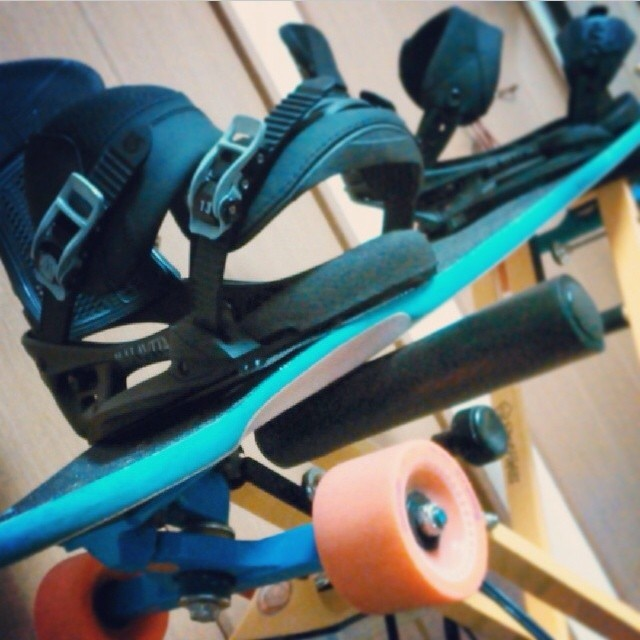 Stolen from @ichistagram can't wait for snowboarding! #loadedboards #chubbyunicorn #orangatangwheels #kilkeridea