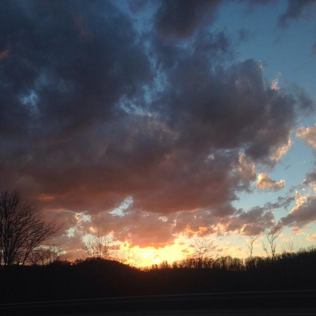 #stoptoenjoy sunset over West Virginia