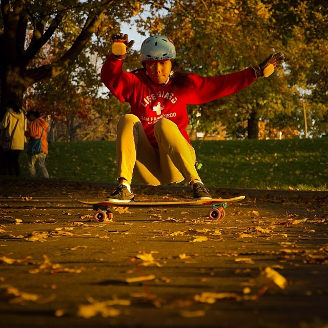 @cindyzskates soaking in the golden light. Photo by @jonathan_nuss #tesseract