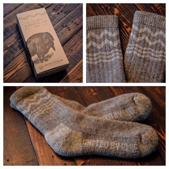 Socks you can literally wear for a week. 100% #madeinusa out of bison and merino wool. Now on @kickstarter from our friends at @unitedbyblue. Get 'Em in time for the holidays. pkdsn.com/ubb