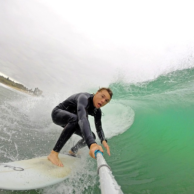@wiggzb looking to tuck into a nice tube ride. #gopro #gopole #gopolereach #surfing