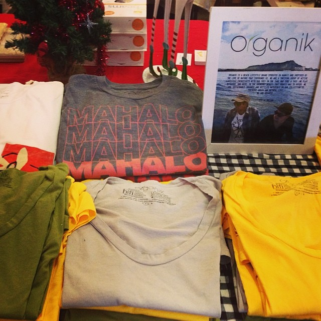 Do your #Holiday shopping at #Organik pop-up at #pinchofsalt #ourkakaako @hnlnightmarket @ourkakaako til 4 PM today