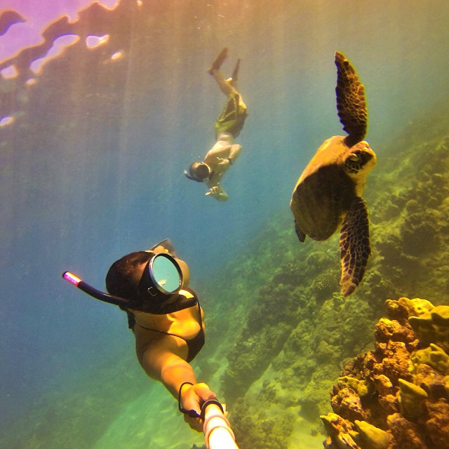 Selfie Sunday with @mander0.o and friends. #gopro #gopole #gopolereach #snorkeling