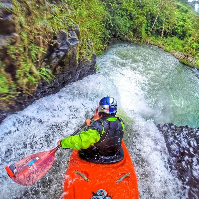 @rafaortizkayak dropping into a waterfall. GoPro HERO3+ | GoPole Arm #gopro #gopole #gopolearm #kayak