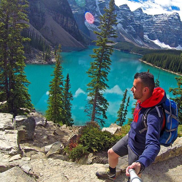 @juliocesarpetrini exploring around Moraine Lake, Banff National Park in Alberta, Canada. GoPro HERO3+ | GoPole Reach #gopro #gopole #gopolereach #morainelake #banff