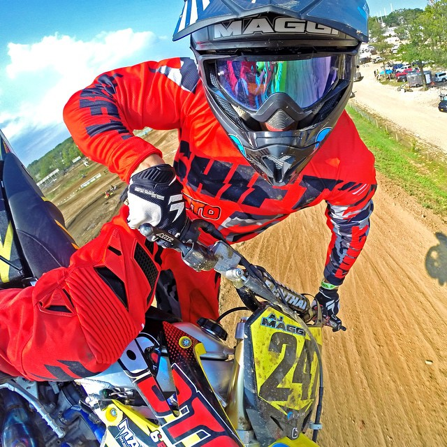 Getting your moto selfie game on point - STEP 2: Set your GoPro to Time Lapse Mode and rip a few laps capturing photos like this with ease. (shot captured with 0.5 second photo intervals) Learn more about GoPole Arm at www.gopole.com #gopro #gopole...