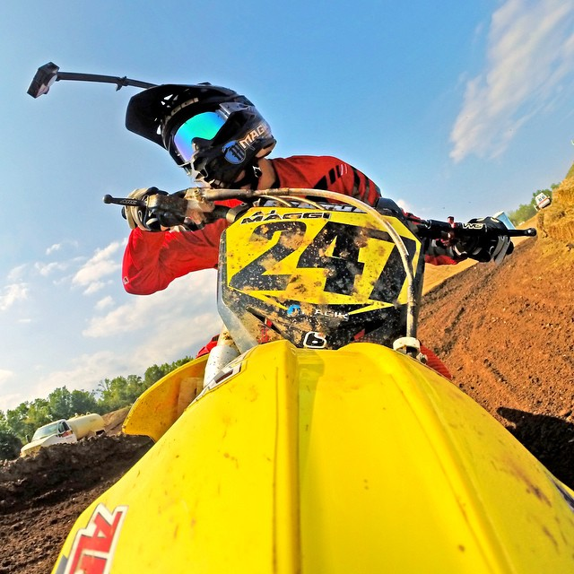 Getting your moto selfie game on point - STEP 1: Attach both extension Arms to the middle of your helmet, dial in the angle using the GoPro Wi-Fi App, tighten down both extension Arms with the included Hi-Torque Thumbscrews. Photo: @ajmaggi GoPro HERO4...