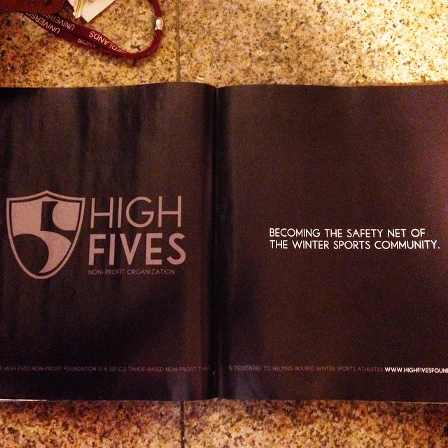 The High Fives Foundation was spotted in @hecklermag! Thank you for the support!