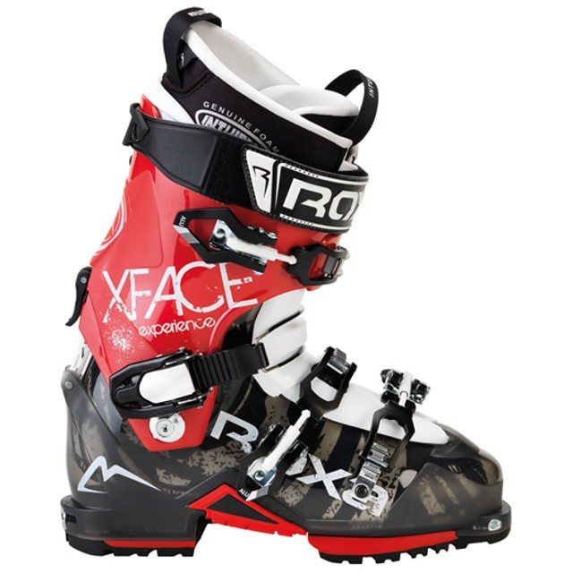 X-Face Alpine touring boot. 80 flex for long approaches, 4 buckles for excellent control. #worldatyourfeet