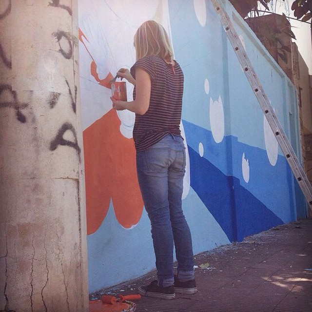 La potra de @holapumpum derrochando arte en Córdoba #OficioArtista #Residencia