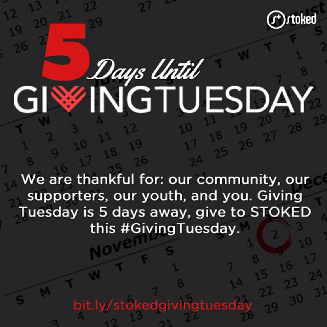 Happy Thanksgiving from STOKED!  Bit.ly/stokedgivingtuesday
