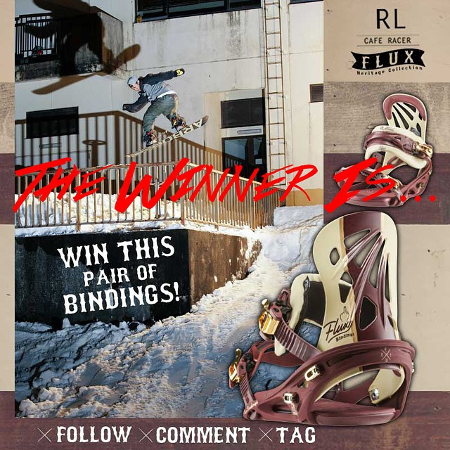 Happy Thanksgiving Everyone! @erikleon_ picked @hashtagcob to win the Flux RL Racer Bindings from the Heritage Collection.  Congratulations Jacob Garcia, hit us up at info@flux-bindings and we'll get you set up.  If you didn't win, don't worry, the...