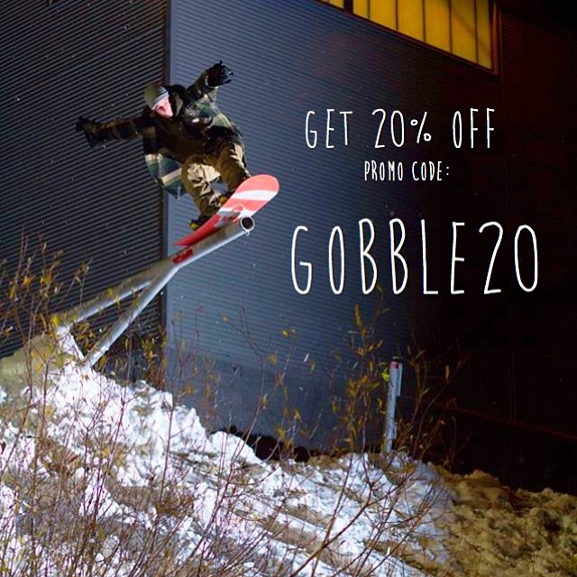 5 day SALE!!! Get 20% off use promo code: GOBBLE20 Stock up! Great photo of homie @thetuckershow putting in some street work in tahoe. Photo cred: @kieth78  #stzlife #sale #thanksgiving #tahoe #snowboard #winterishere