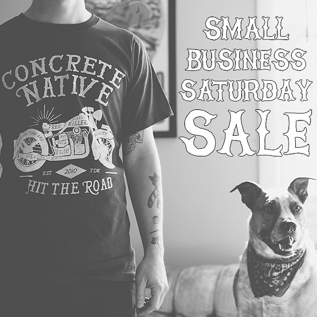 "Happy Thanksgiving! In honor of Small Business Saturday, we will be offering 29% off everything at concretenative.com! Sale starts at midnight Saturday and runs through Sunday! Use promo code ""SmallBizIsBetter"" #concretenative #happythanksgiving..."